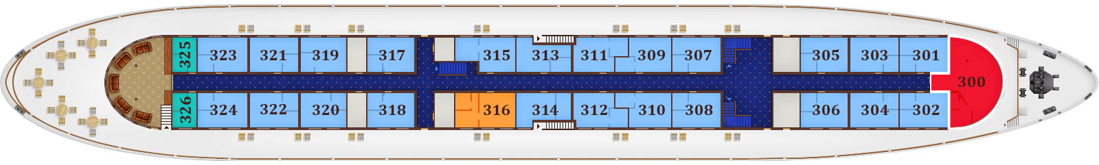 Deck Plan. Promenade Deck