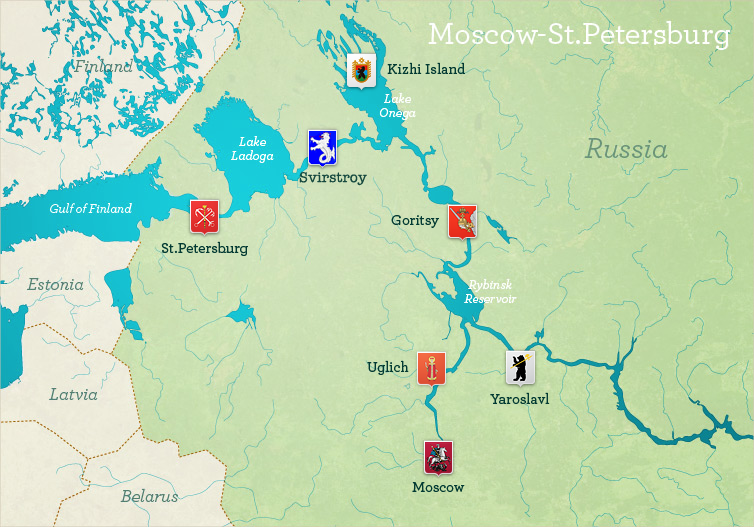 Moscow to St. Petersburg