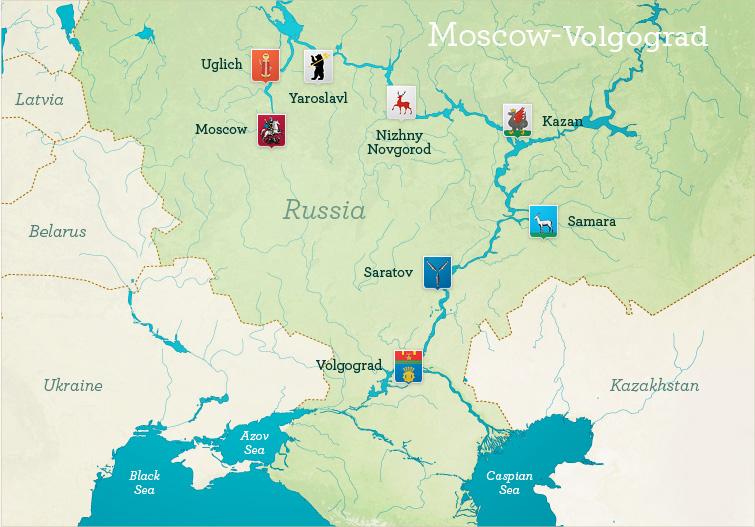 Moscow to Volgograd