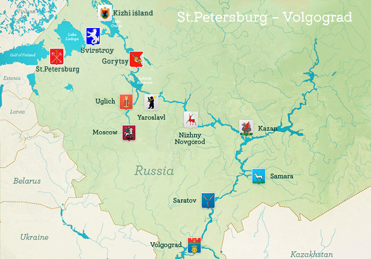 St. Petersburg to Volgograd / Astrakhan