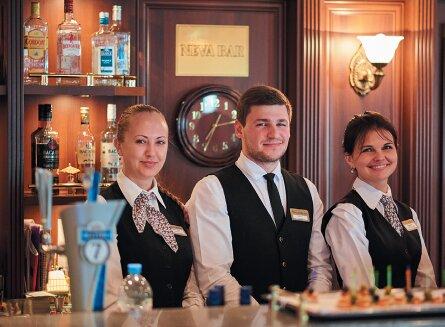 MS Volga Dream bartenders